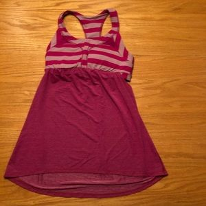 Lululemon tank with sports bra attached
